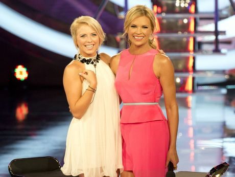 Angie Murray with host Sonia Kruger.