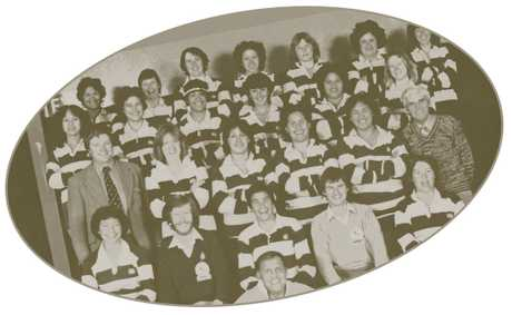 BLAST FROM THE PAST: The Hawke's Bay ``Bazza's Beauties'' and team officials: