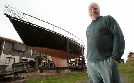 DREAM REALISED: Max Deal has battled chronic health issues to complete his 52ft yacht, The Double Deal.