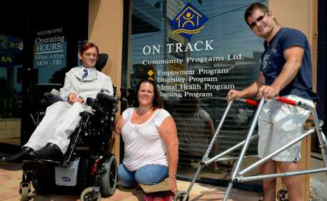 Paul Mauchline, Tracy Barrell AO and Tim Thomas are On Track's Tweed ambassadors.
