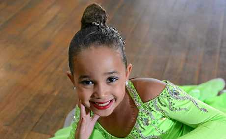 BIG TALENT: Nine-year-old performer Khadijah Warren has won numberous state and national ballroom dancing titles.
