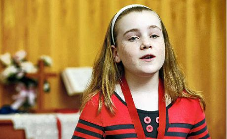 RIGHT NOTE: Hannah Grayson performs in the Girls Solo 10 years at the Silkstone Eisteddfod.