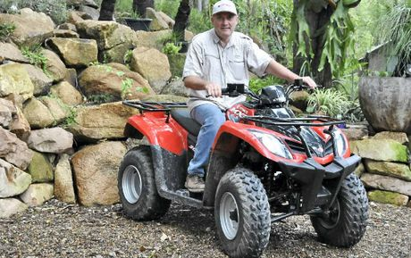 UP AND RUNNING: Charles Marais hopes his Woondum quad bike tours will start in December.