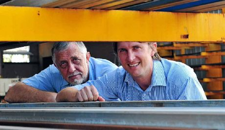 FAMILY TIES: Spud and Ryza Garbarcz at Noosa Engineering and Crane Hire.