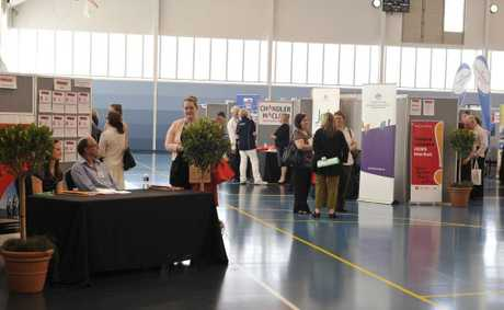 Telstra Lismore Jobs Market at the Goonellabah Sports and Aquatic Centre.