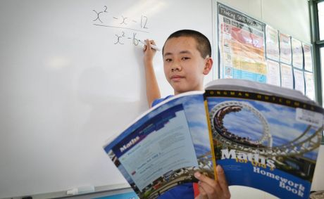 MATHEMATICAL: Oxley State School student, Phillip Huynh has achieved the extraordinary accomplishment of coming 1st overall in Queensland for the Commonwealth Bank Australian Maths Challenge 2012. Photo: Chris Owen / The Satellite