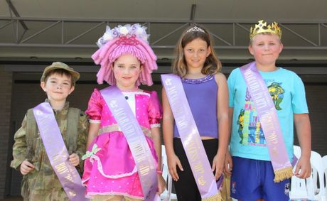 WINNERS: Jacaranda Page Boy 2012 Jacob Jones (6), Jacaranda Flower Girl 2012 Brigette Jamieson (7), Jacaranda Party Princess 2012 Sarah Rigby-Pierse (9) and Jacaranda Party Prince 2012 Logan Eggleton (9).