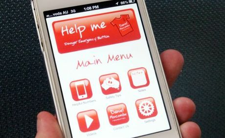 New phone app called Help Me developed by Bruce and Denise Morcombe to assist in child safety. Photo: Inga Williams / The Reporter