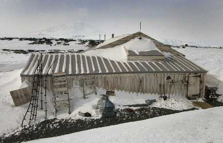 FROZEN: Captain Robert Falcon Scott's 1911 Terra Nova Hut, at Cape Evans, remains as a monument to his ill-fated Antarctic expedition.