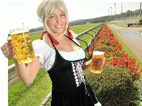 Jacki Greenland is ready to celebrate the Sunshine Coast Jockey Club Oktoberfest night to launch the racing season.