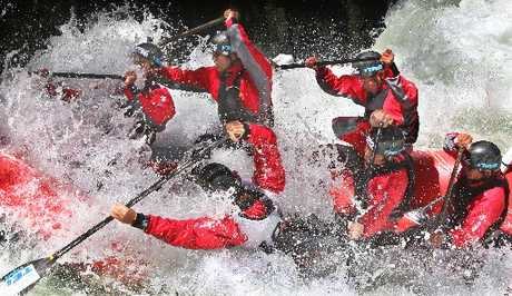 Japan's Team Teikei in action at the pre-world rafting champs at the weekend.