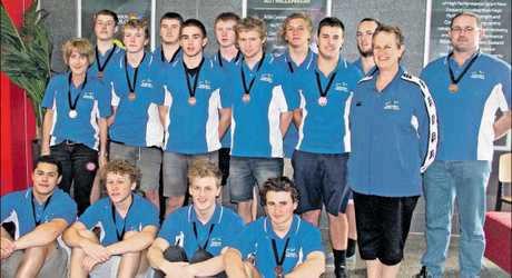 The Tauranga Under-18 water polo team won a bronze medal at the national championships.