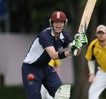 SOLID START: Tom MacRury batting for Tauranga Boys&#39; College against Greerton at Nicholson Field.