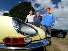 L to R John Crighton, John Talbot and Graham Cogzell. Cars, 1966 Jaguar E Type coupe. 1969 MGB sports. Photo: John Gass / Daily New