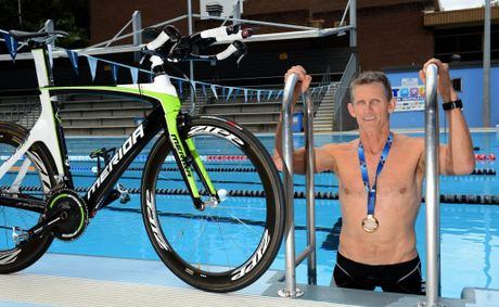 Jeff Collier took out the World triathlon champs in NZ. Photo: John Gass / Daily News