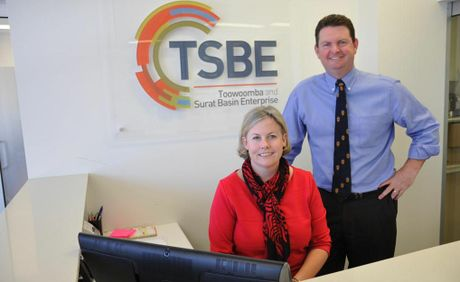 Board director and consultant Jo Sheppard and CEO Shane Charles of Toowoomba and Surat Basin Enterprise.
