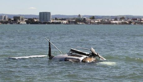 A gyrocopter crashed into Waipu Bay next to Tauranga Airport.