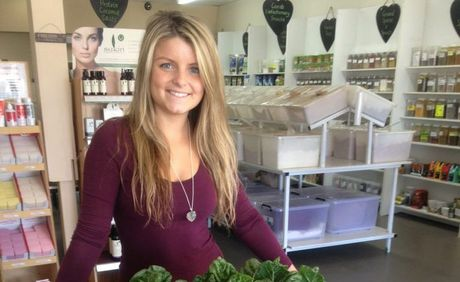 Jordan Pollock, 21, owner and manager of Garden of Eden Organic and Health Foods.