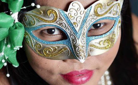 EYE CATCHING: Ipswich Filipino-Australian Association secretary Marie Blucher dresses up for the ball on November 3.