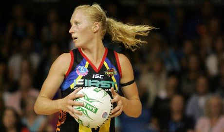 University Blue and Silver Fern Laura Langman was impressive for the Magic.