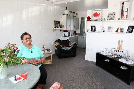 Maria Winitana says she&#39;s happy to have a home at the Swansea Village flats for the elderly in Flaxmere, rejecting claims the units need to be upgraded.