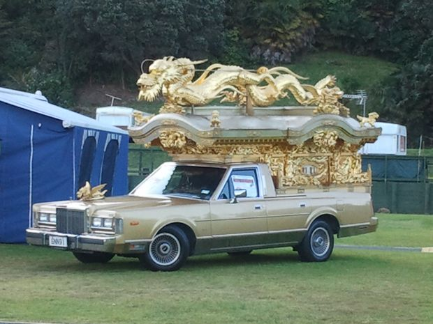 This Japanese hearse, owned by Bruce Choat, is one of the many cars on show at the Wheels on Mainstreet event.