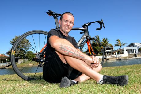 Nathan Beckingham recently cycled 1700 km from the Sunshine Coast to Shepparton. Photo:Warren Lynam / Sunshine Coast Daily