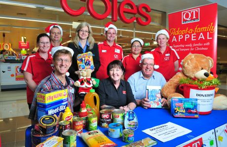 The Queensland Times Adopt a Family Appeal is on again this year with a permanent booth set up outside Coles at Riverlink for donations of food and toys. Photo: Rob Williams / The Queensland Times