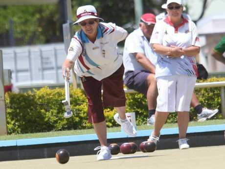 QLD Champion of Champions at Bribie Island Bowls Club. Betty Goodwin of Caboolture Photo: Kari Bourne / Sunshine Coast Daily