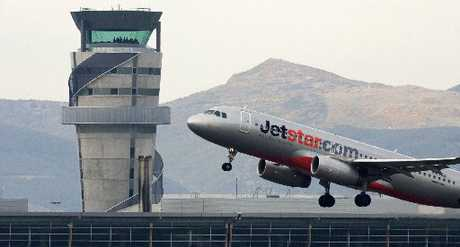 A Jetstar flight departs Christchurch Airport
