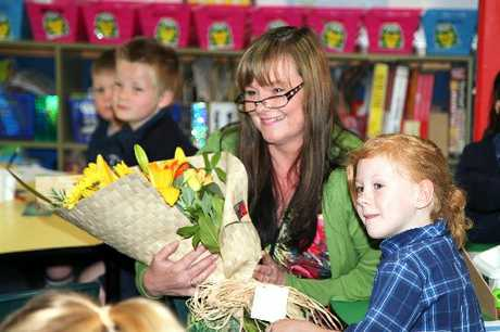 "Geraldine Sumner, St Joseph's Primary School teacher, this week was hailed for going ""above and beyond"" in her job. Photo / Mimim Dwyer"