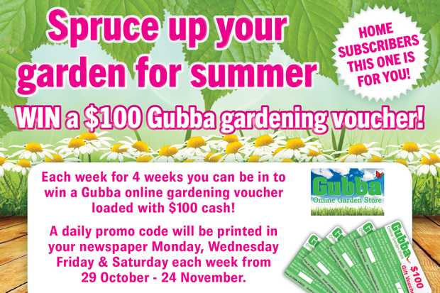 WIN GUBBA GARDENING VOUCHER - HAWKE'S BAY TODAY