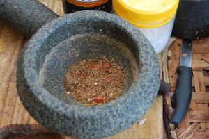 A curry powder made by Jude Fanton almost entirely with produce from her garden.