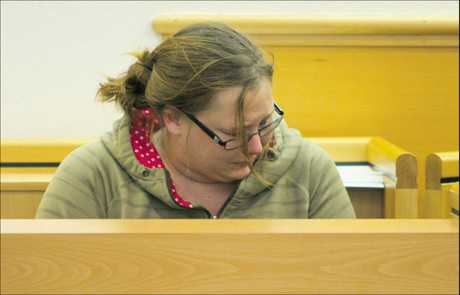 Josephine Kryszkiewicz wept as she was sentenced in Tauranga District Court for torching her ex's flat.