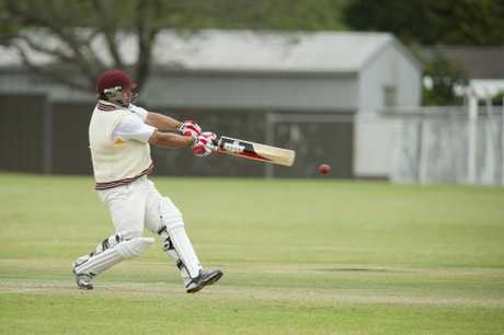 Sean Fitzsimmons bats for South-East Queensland against Darling Downs and South-West Country during the Schaeffer Shield carnival at Captain Cook Oval.