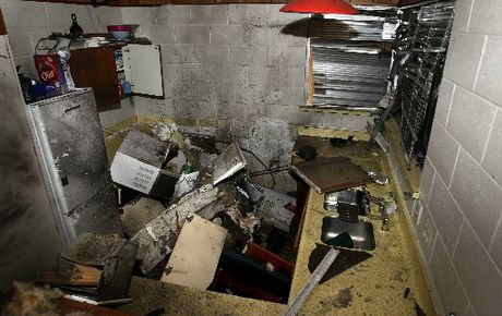 An exploding chip heater destroyed the kitchen and left homeowner Aaron Seymour in an induced coma.