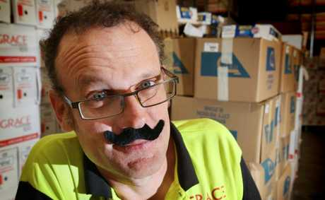 John Egan from Grace Records donning his mo&#39; for a good cause. Photo: Inga Williams / The Satellite