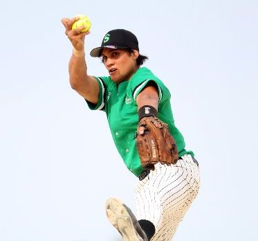NEW SAINT: Tiaki Tewheoro on the mound for Saints during Saturday's 13-5 win against Maraenui Pumas in Hastings. PHOTO/PAUL TAYLOR HBT124245-01