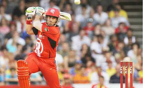 SMASHING EFFORT: Renegades player Nathan Reardon was at his destructive best representing Country Inferno yesterday.