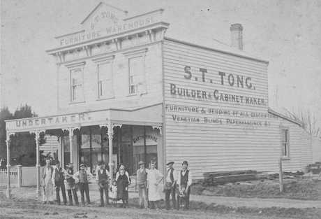 SERIOUS WORK: Employees of S T Tong, Hastings' original undertaker. PICTURE SUPPLIED BY VALDA COLWILL
