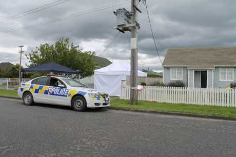 ATTACK: The scene outside the house where Peter Fisher was assaulted on Sunday morning. PHOTO/FILE