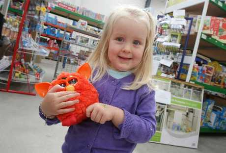 Ariel Bailey, 3, has her eyes on a Furby, which is expected to be one of this year's most popular presents.