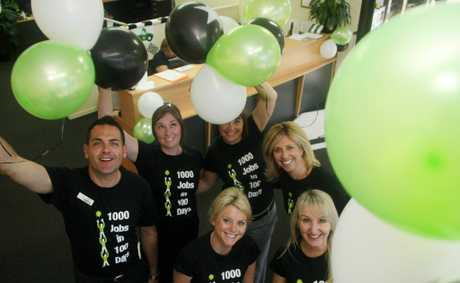 Nortec's 1000 jobs in 100 days- Left to right- Julian Beaumont, Emily Wiles, Michelle Bates, Jodene Kay, Karley Smith and Michelle Dowding kick things off Photo Blainey Woodham / Daily News