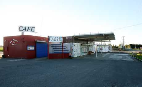 Two French tourists were robbed in this old service station on State Highway 2. PHOTO/FILE