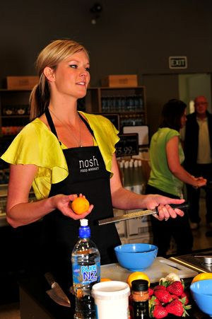 Masterchef winner Chelsea Winter at Nosh Food Market today.