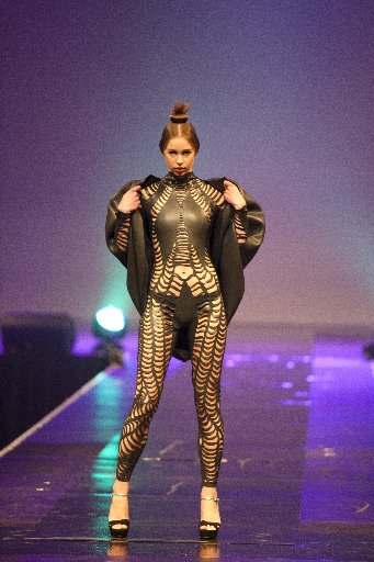 AVANT-GARDE: Wanganui designer Stefanie McKnight's award-winning garment, The Whole Hole.PHOTO/SUPPLIED CULTCOUTURE0553