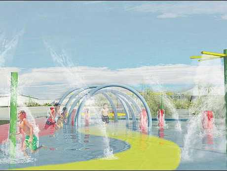 This is what Spray Park is expected to look like on Saturday once it opens.