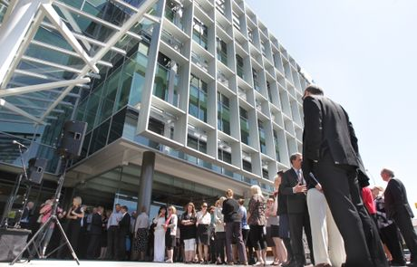 The ANZ Centre on the corner of Cameron Rd and Elizabeth St was opened today