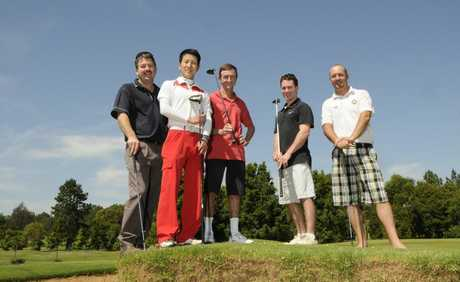 Team members (from left) Matt Bradford, Kenji Yoshida and Ron Goltz are preparing for this year's Holden Scramble Championship Final.