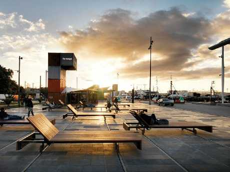 GETTING AROUND: The Wynyard Quarter makes good use of waterfront land.